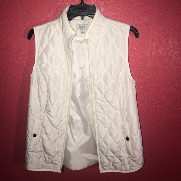 croft & barrow Jackets & Blazers - White vest